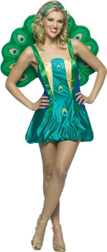 Ladies Metallic Peacock Costume