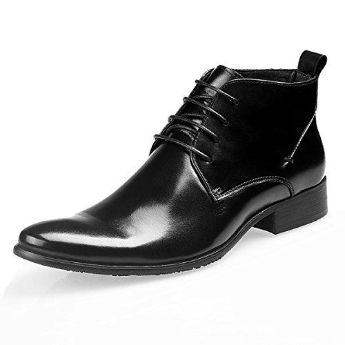 GRRONG Bottes Hiver Hiver Pour Aider à La Mode Chaussures Décontractées Black
