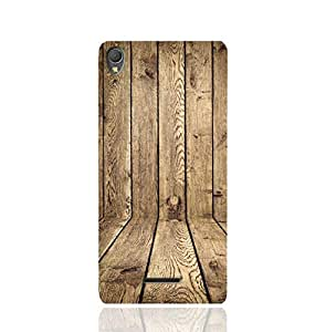 Sony Xperia T3 Ultra TPU Silicone Case with Wood Texture Old Panels Pattern