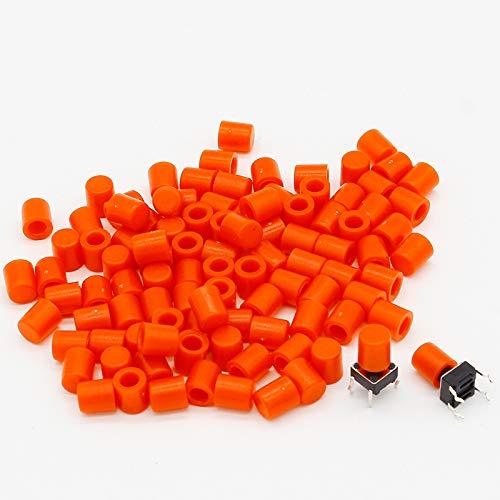 100 gorras de plástico para interruptor táctil G61 de 6 x 6 mm ...