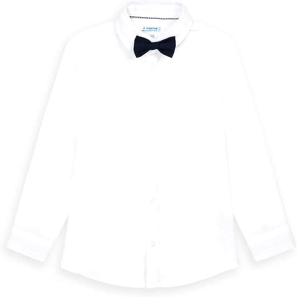 Mayoral Camisa m/l Pajarita Niño Blanca: Amazon.es: Ropa y ...