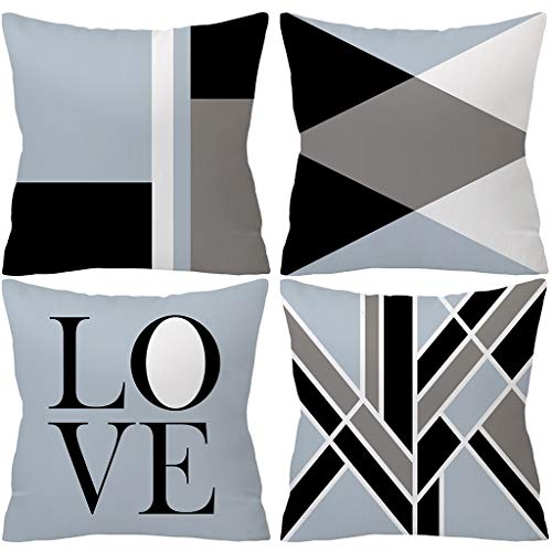 - Fashion Pillowcase,Home Pillowcases,Gray Pillowcases,Cushion Pillowcase for Sofa Set, Spring Pillow Covers 18x18 Modern, Toddler Neck Pillow for Car Seat, Travel Pillow for Kids in Airplane