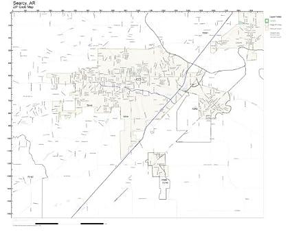 Amazon.com: ZIP Code Wall Map of Searcy, AR ZIP Code Map Not ...