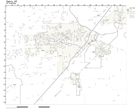 Amazon.com: ZIP Code Wall Map of Searcy, AR ZIP Code Map Not ...