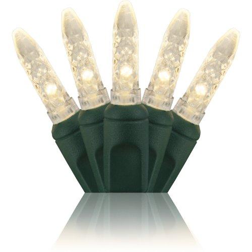 Holiday Lighting Outlet M6 LED Christmas Mini Lights, Mini Ice, M5, Warm White, Green Cord, 70LT 4