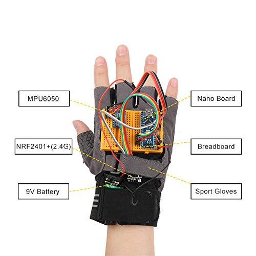 Arduino Robotics Glove with Accelerometer and Gyroscope