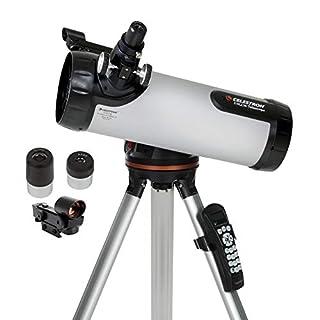 Celestron – 114LCM Computerized Newtonian Telescope – Telescopes for Beginners – 2 Eyepieces – Full-Height Tripod – Motorized Altazimuth Mount – Large 114mm Newtonian Reflector