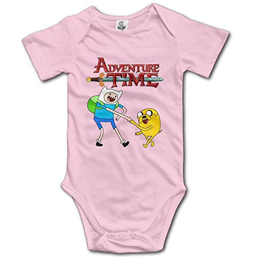 Kids Adventure Time Finn Jake Baby Bodysuit Onesies Unisex Boys Girls 100% Cotton 6 M Pink - Adventure Time Baby Clothes
