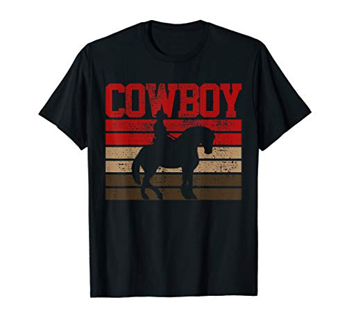 Cowboy T-Shirt Rodeo Tshirt Horse Tee Gift Country -
