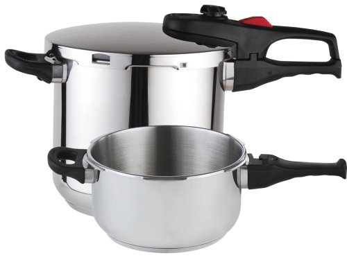 Magefesa Practika Plus Stainless Steel 4 and 6 Quart Super Fast Pressure Cooker Set (3 Piece-Trio) by Magefesa
