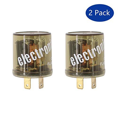 (XtremeAmazing 12V 2 Pin Heavy Duty LED Electronic Fixed Turn Signal Flasher Relay Hazard Warning)