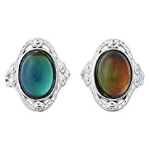 2pcs Adjustable Oval Color Change Mood Ring Emotion Feeling Changeable Ring