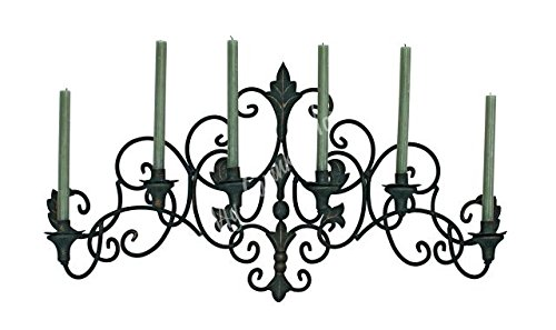 MY SWANKY HOME Fleur de Lis Wall Sconce Candelabrum | Candle Holder Old World