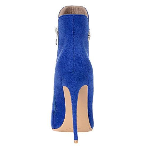 pour ZAPROMA 001 Bleu XUE 5 Femme Bottes 36 Bleu qZZrOt5x