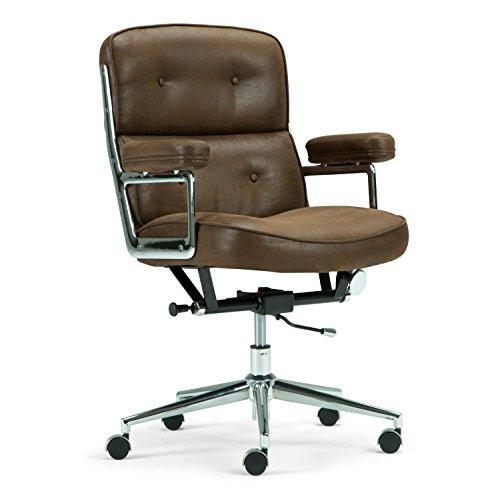 Simpli Home Barton Swivel Office Chair, Chocolate Brown from Simpli Home