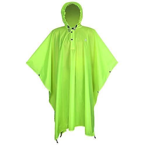 Storage Green Shelter - Anyoo Waterproof Rain Poncho Lightweight Reusable Hiking Hooded Coat Jacket for Outdoor Activities