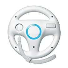 Goldfox White Steering Mario Kart Racing Wheel for Nintendo Wii Remote Game