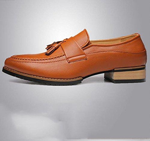 Bajos Nueva Negra Antideslizante Yellow Las De Flecos Zapatos De Cuña De Koyi Inglaterra De con Desgaste A Zapatos para Suelas Hombre Goma Ayudar RqIwB7v