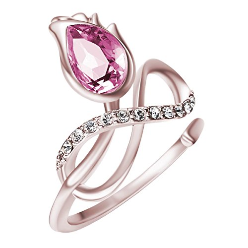 Infinity Flower (FAPPAC Infinity Flower Statement Ring Enriched with Swarovski Crystals - 6)
