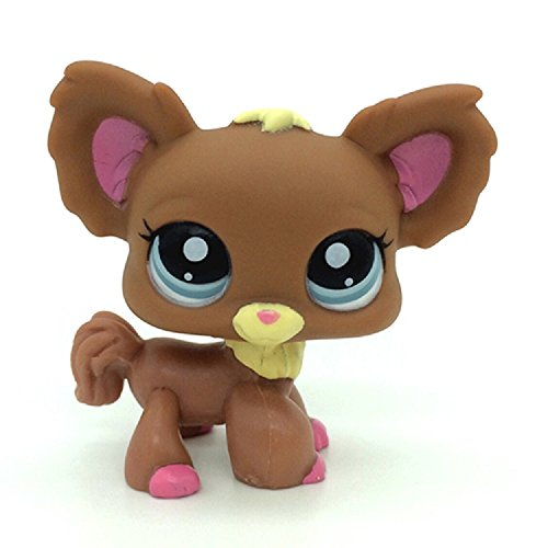 Littlest Pet Shop Collection LPS # 1623 Brown Chihuahua Dog Figure - Chihuahua Brown