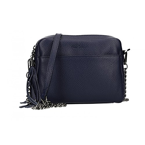 Bolsa mujer de hombro PIERRE CARDIN violeta en cuero Made in Italy VN2736