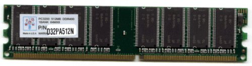 Pc 3200 184 Ddr400 Pin - Super Talent D32PA512N 512MB PC-3200 184-pin DDR400 Desktop Memory