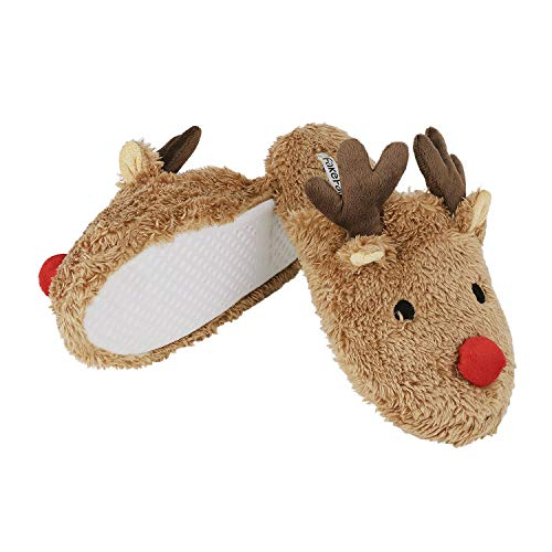 Anti Cute Xmas House Brown Indoor Plush Bedroom Foam Memory Shoes Slip Bunny Womens Winter Gift Slippers Soft Rabbit OZdpxT