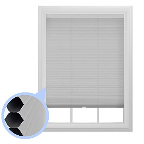 Set of 2- 9/16 in. Trimmable Cordless Cellular Room Darkening Window Shade, 36-Inches by 64-Inches The Miro Brand