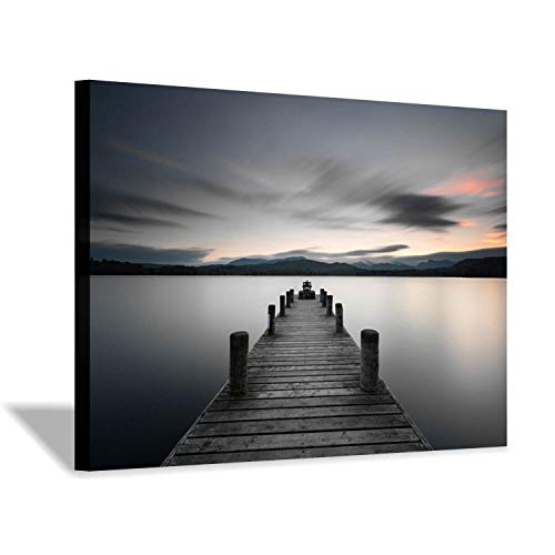 [해외]Pier Picture Canvas Wall Art: Vintage Lake Dock Artwork Painting for Bedroom (36`` x 24`` x 1 Panel) / Pier Picture Canvas Wall Art: Vintage Lake Dock Artwork Painting for Bedroom (36`` x 24`` x 1 Panel)