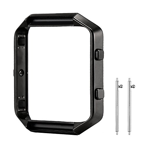 For Fitbit Blaze Frame, SKYLET Colorful Stainless Steel Frame for Fitbit Blaze Replacement Metal Frame (Bands and Tracker Not Included)