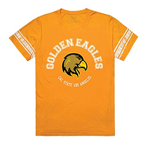 Los Angeles State Football - California State University Los Angeles Golden Eagles NCAA Men's Football Tee T-Shirt Gold XXL