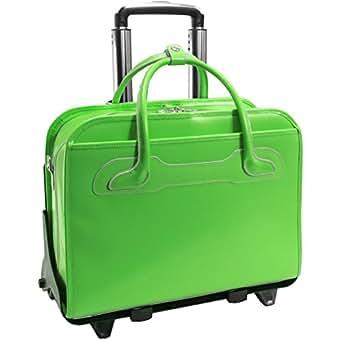 McKlein USA McKlein Willowbrook Detachable-Wheeled Rolling 17-inch Laptop Briefcase Green