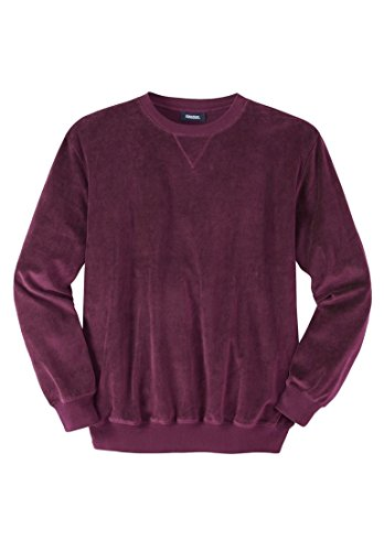 KingSize Men's Big & Tall Velour Sweatshirt, Deep Burgundy Big-7Xl (Tall Velour)