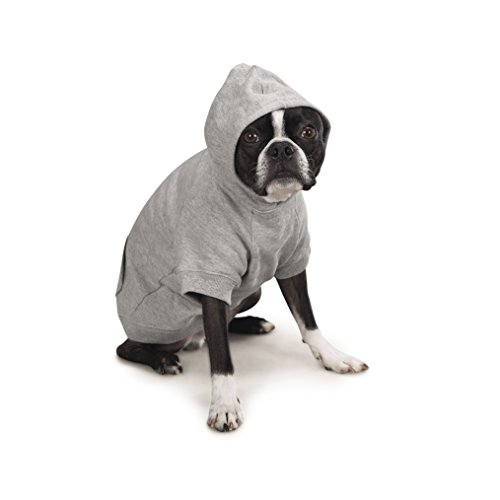 Zack & Zoey Basic Hoodie for Dogs, 24'' X-Large, Heather Gray by Zack & Zoey (Image #1)