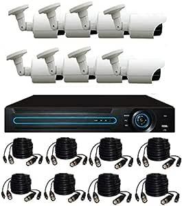 8CH Full HD OUTDOOR 1280 X 720P DVR NVR AHD outdor Camera System 1200 TVL CCTV SYSTEM