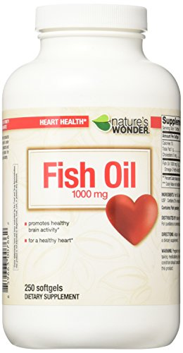 Nature's Wonder Fish Oil 1000mg Nutritional Supplement, 250 Count