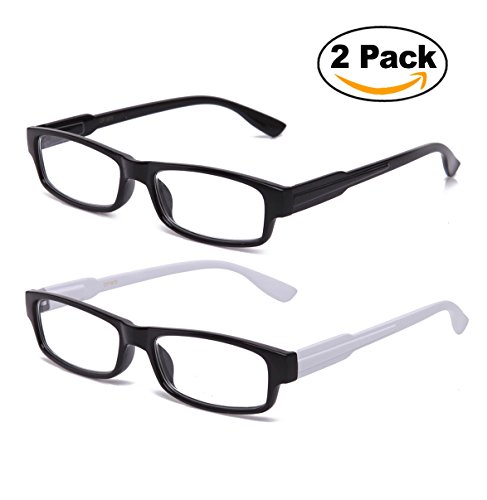 Newbee Fashion - Clear Glasses Squared Spring Hinge Flexible Comfortable Sophisticated Fashion Clear Frames Cosplay - Glasses Sophisticated