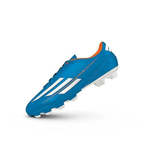 adidas Unisex-Kinder F5 TRX FG J Krabbelschuhe, Blau, 38 EU Orangefarbig-Silber-Hellblau