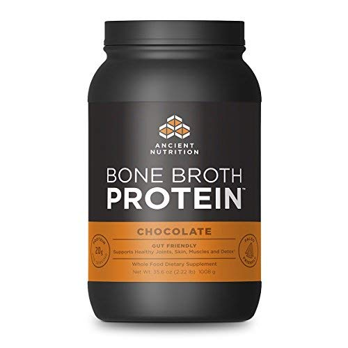 Ancient Nutrition Bone Broth Protein Powder, Chocolate Flavor, 40 Servings Size (Coconut Oil Honey And Cinnamon In Coffee)