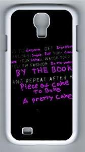 Samsung Galaxy I9500 Case and Cover -Purple Phrase PC Hard Plastic Case for Samsung Galaxy S4/Samsung Galaxy I9500 Whtie