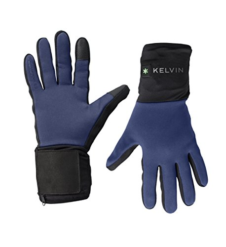 Kelvin Techstyles Addison Women's Heated Gloves with Lithium-Ion Batteries and Charger (Small, Blue)
