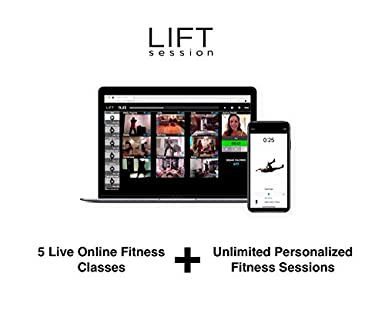 0cf6277bcfb Amazon.com  LIFT session - 5 Live Online Fitness Classes + Unlimited  Customized App-based Workouts bundle  Online Code   Software