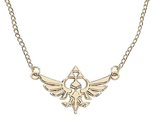 Zelda JE101317ZEL Nintendo Golden Necklace with Hyrule Metal Charm (One Size) (Snes Zelda A Link To The Past Walkthrough)