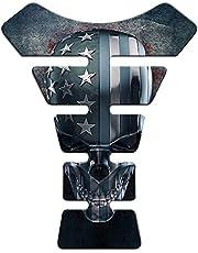 Protetor De Tanque Universal Caveira Estados Unidos Azul Tank Pad Adesivo Resinado