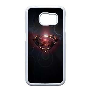 Superman Logo_001 Samsung Galaxy S6 Edge Cell Phone Case White Protective Cover