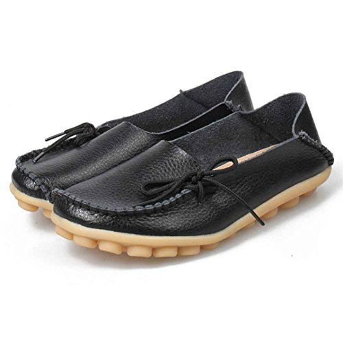 Tenworld Driving Cowhide Lace Up Loafers