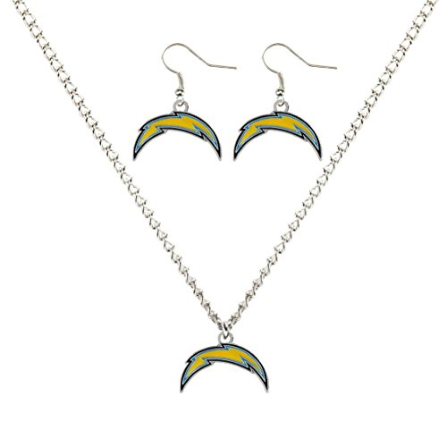 NFL San Diego Chargers Logo Earrings & Pendant Set