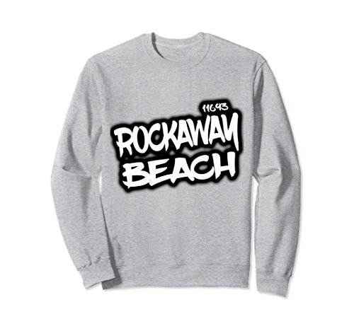 Unisex Rockaway beach Nyc zip code 11693 sweat t-shirt Medium Heather - Center Nyc Queens Mall