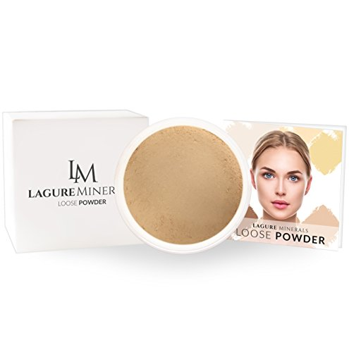 Lagure 6-Color Setting Powder (04 Coast) - Best Loose Powder Foundation with Premium Face Powder - Perfect for Medium Skin Tone with Deep Yellow Undertone - Step-by-Step Setting Powder Guide Included
