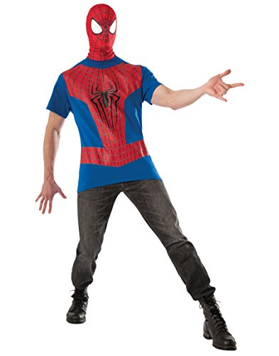 [Rubie's Costume Men's Marvel Universe, The Amazing Spider-man 2 Costume Top and Mask, Multicolor,] (The Amazing Spider Man All Costumes)